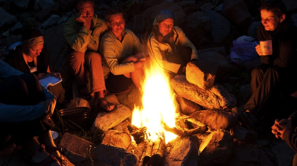 We may not have a campfire on the day, but we all know that feeling, of warm company and shared soul