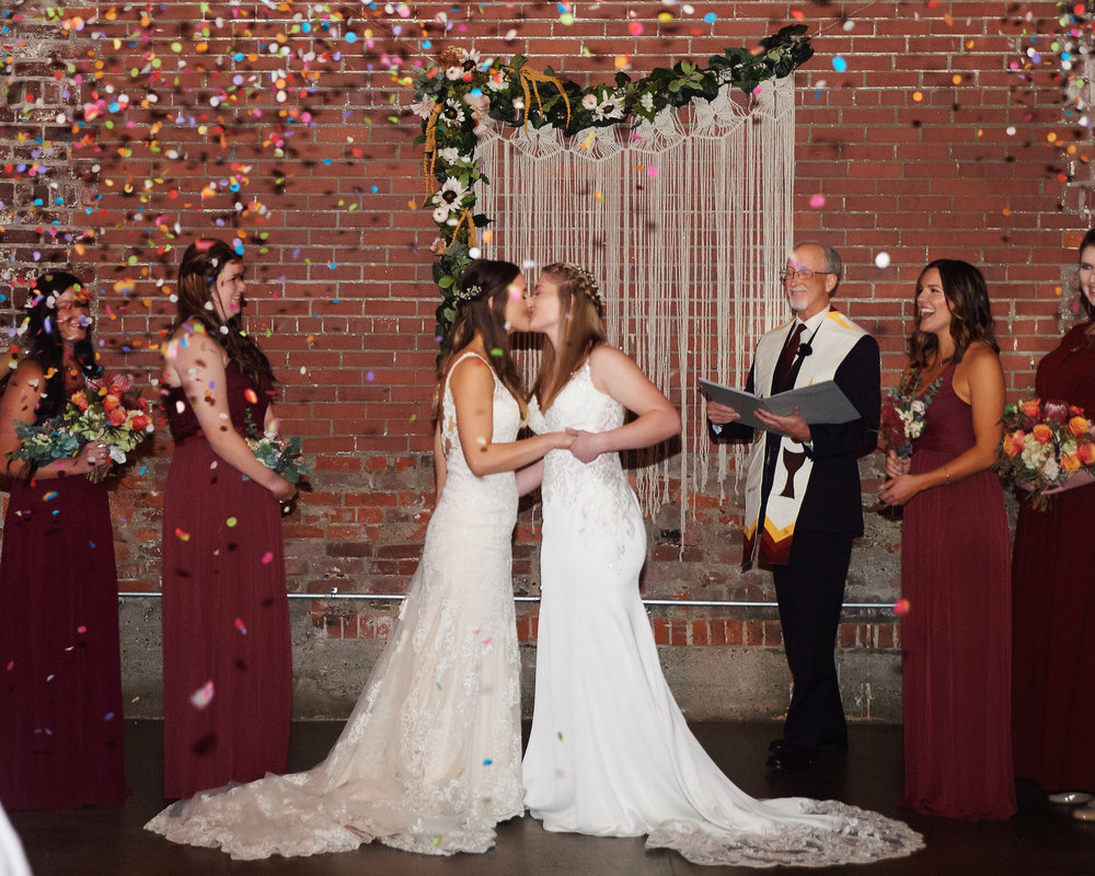Kiss, cling and bling—what a moment!  Venue: Industry, Indianapolis