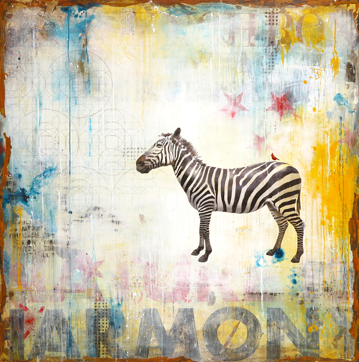 ZEBRA RIDE, 72 X 72, SOLD