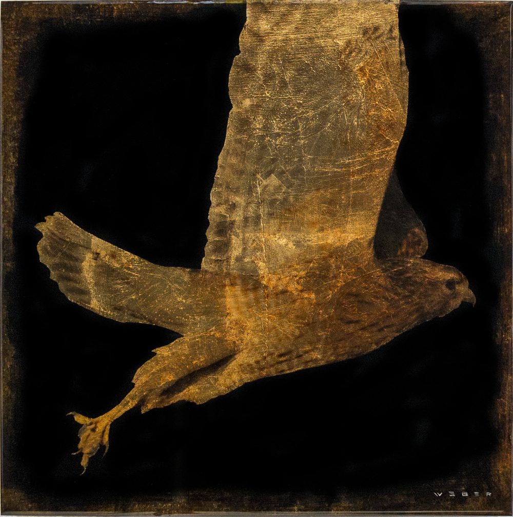 FLYING HAWK, 12 X 12