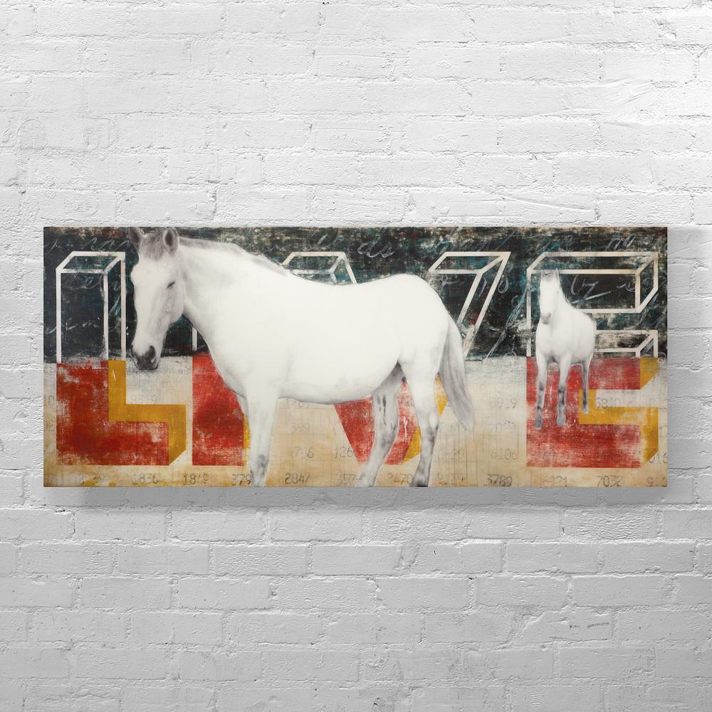 WHITE HORSES, 30 X 80, SOLD