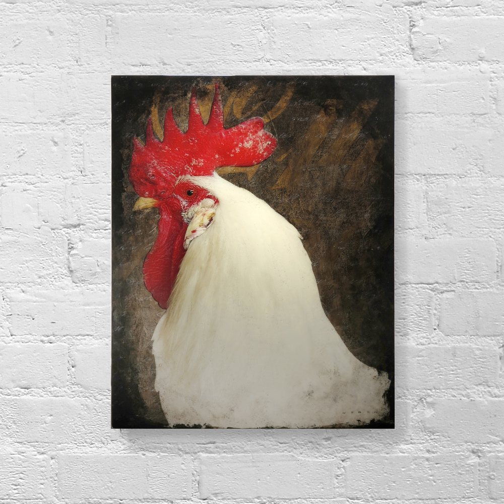 ALARM COCK, 20 X 16, SOLD