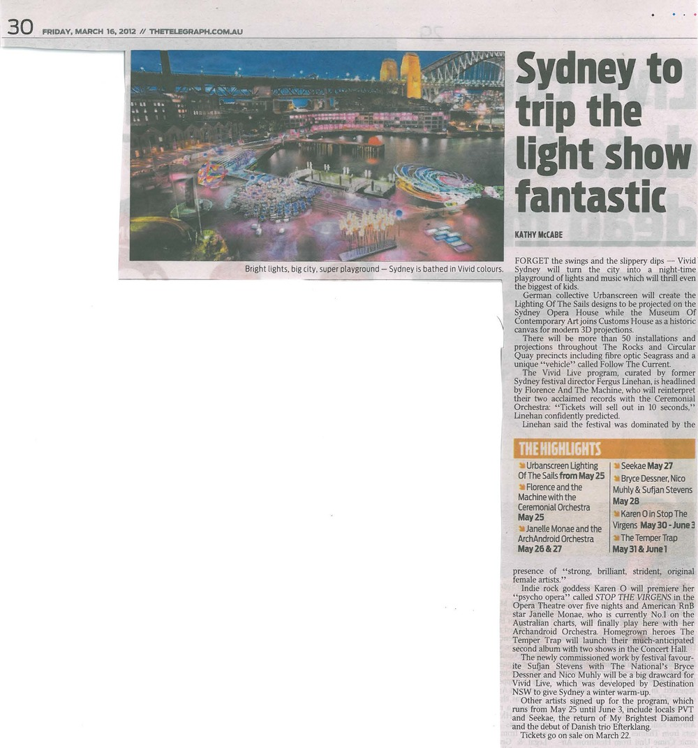 Daily Telegraph -  MAR 2012