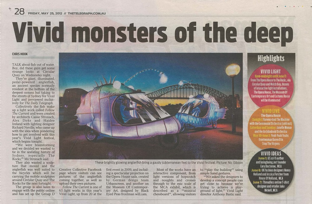 DAILY TELEGRAPH - MAY 2012