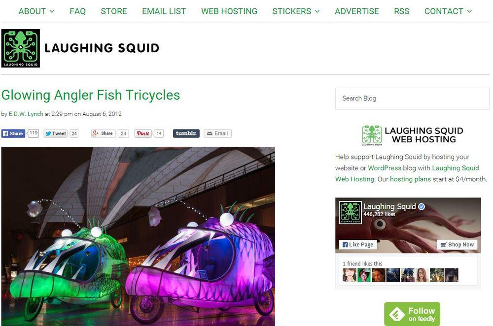 Laughing Squid - Aug 2012