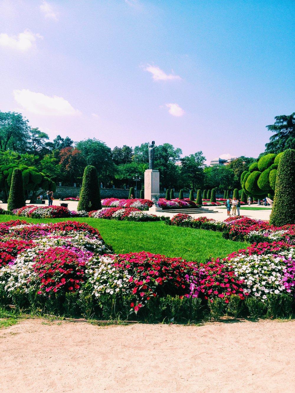 Jardín en Madrid