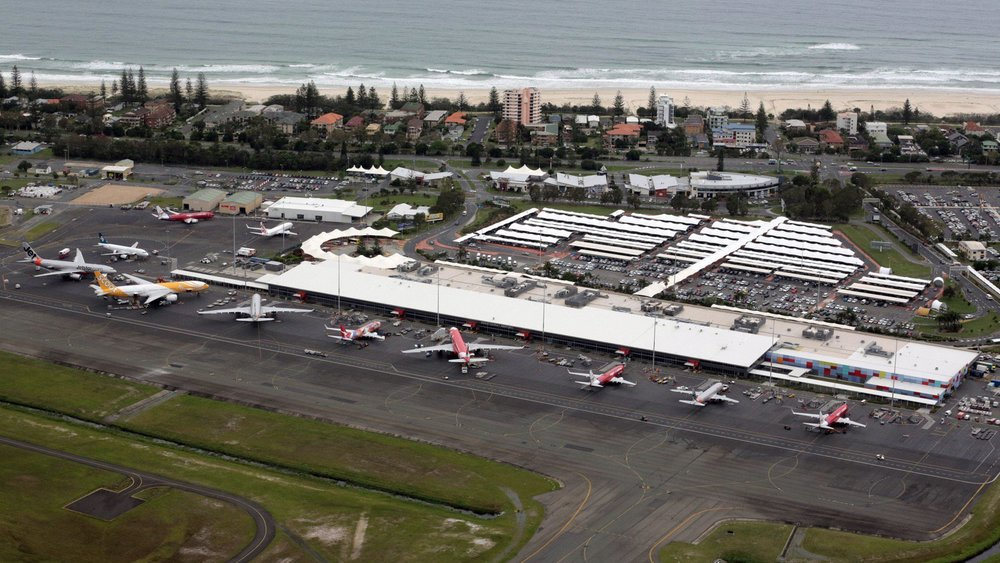 The Gold Coast Airport is rapidly expanding, servicing 6 million passengers per year.