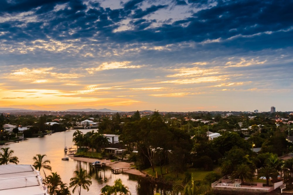 There are a range of suburbs away from the traditional tourist strips with good services, infrastructure and amenity, which appeal to those wanting to live on the Gold Coast.