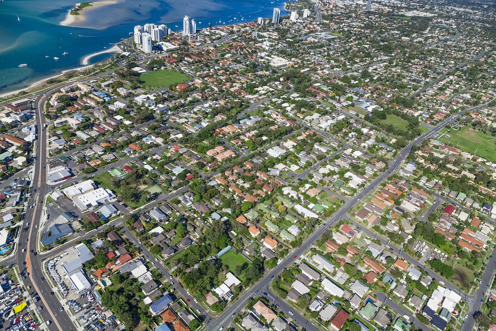 The suburb of Labrador, with the Broadwater to its east. Well-located near to many of the professional jobs on the Gold Coast, this area is growing in sophistication.