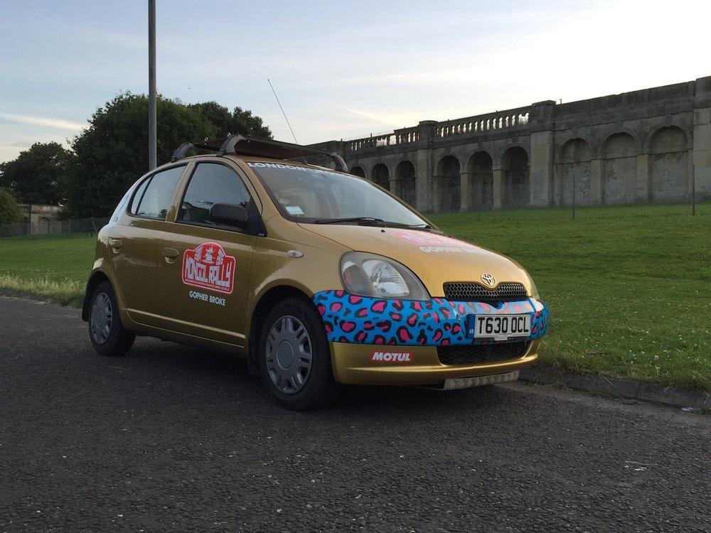 Meet Shalamar Goldie, 1999 Toyota Yaris 1.0L, 64 HP, 5-speed Manual, 126k miles