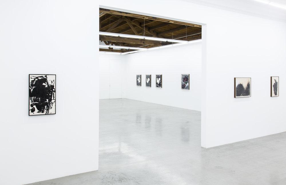 Installation view of Deborah Remington's works on paper