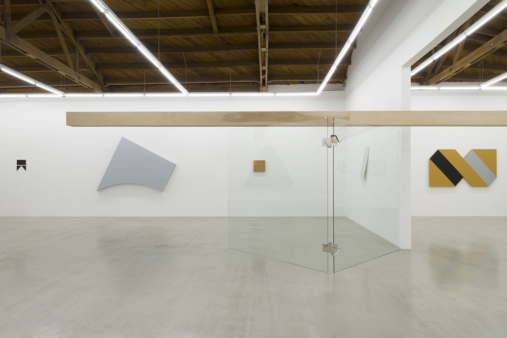 Installation view of Tony Delap: A Career Survey