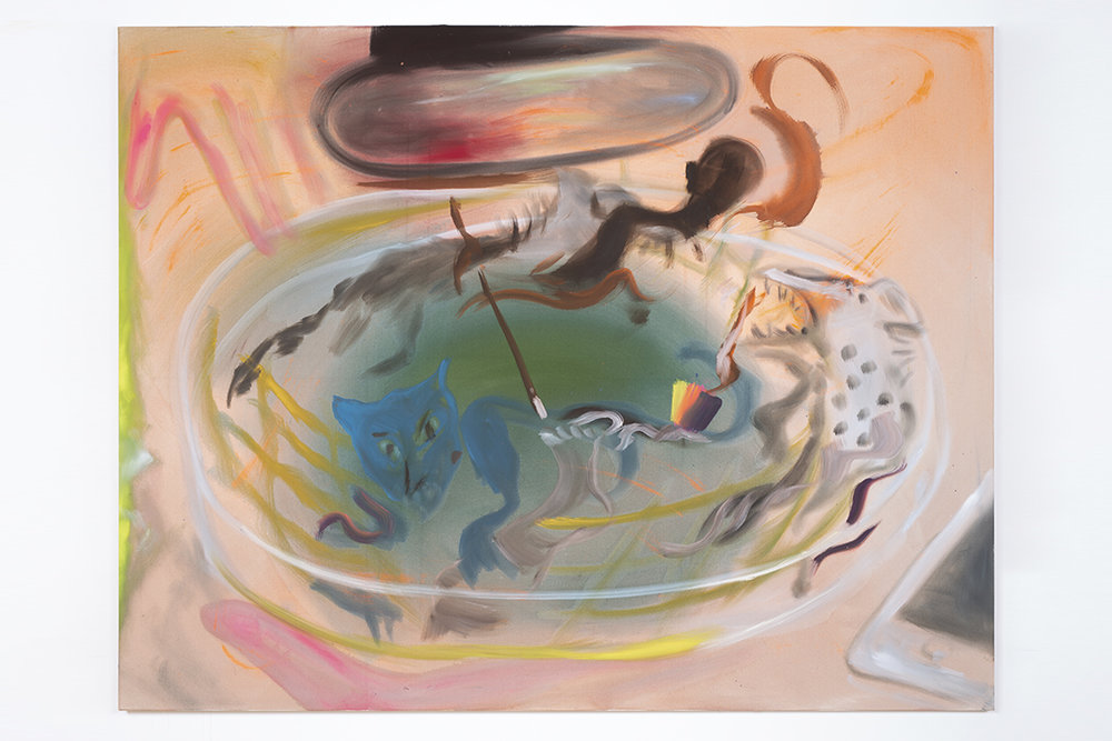 Sophie von Hellermann's abstract menacing hyenas circling in a petri dish