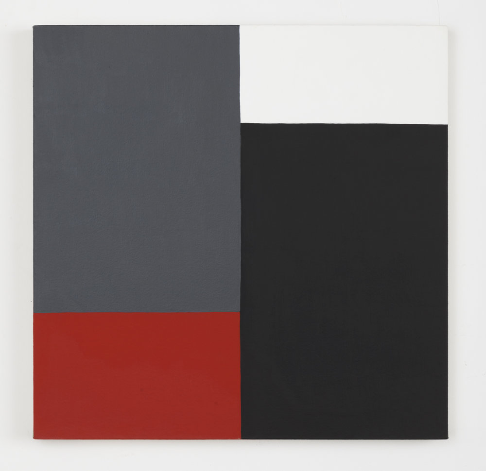 Edith Baumann  Untitled #4,  1977 acrylic on canvas 26 - 1/4 x 26 - 1/4 inches