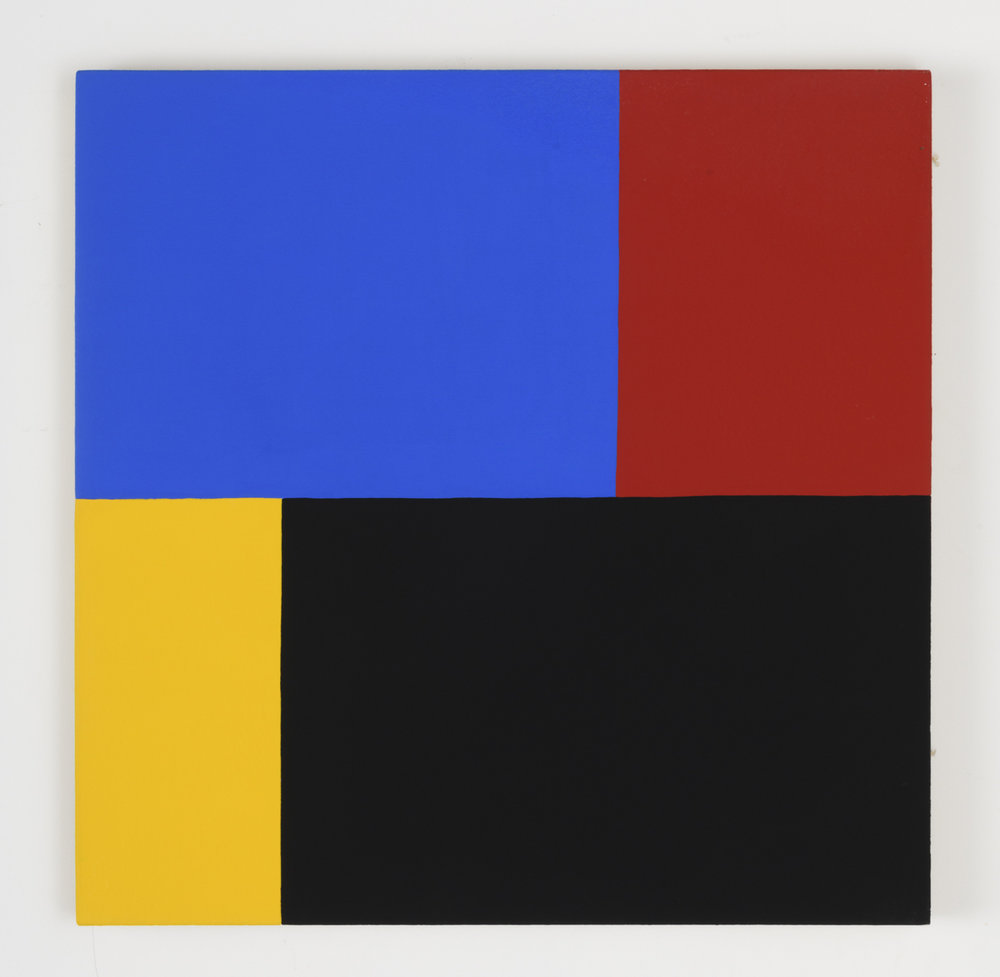 Edith Baumann  Untitled #3,  1977 acrylic on canvas 26 - 1/4 x 26 -1/4 inches