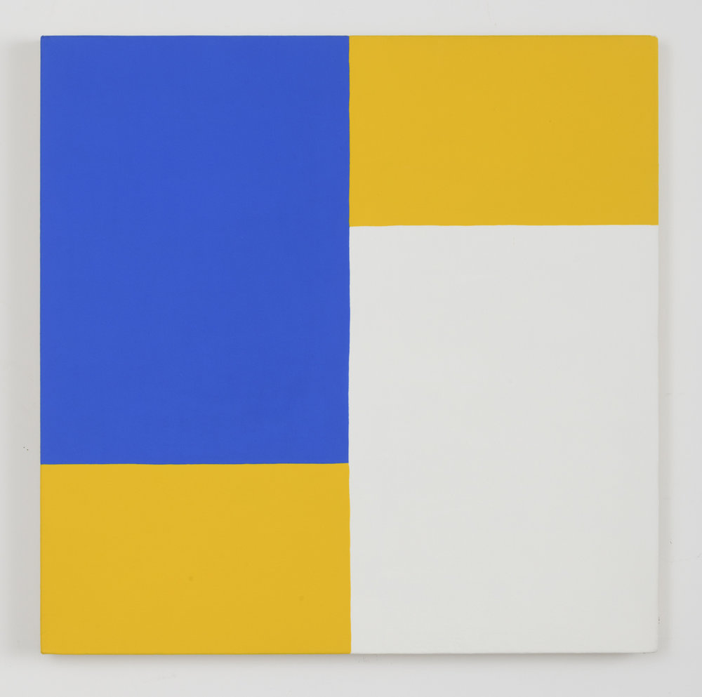 Edith Baumann  Untitled #1,  1977 acrylic on canvas 26 - 1/4 x 26 -1/4 inches