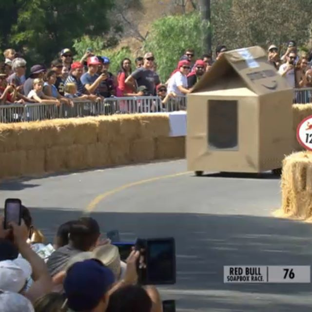 It was definitely weird seeing crafts I built go down the track without me behind the wheel at the #redbullsoapboxrace today but an honor no less. Epic event @redbull ...till next time!