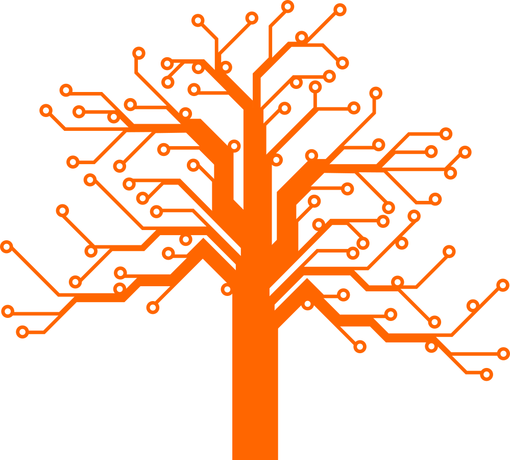 The Lynnwood Fibre Initiative Logo is a merger between the beautiful big trees common in the Lynnwood community, and an electronic circuit board design. The circles represent the homes within Lynnwood, and the electronic circuit paths in the shape of a tree, connects all the homes with a fast internet connection through the branches all the way to the trunk. The trunk represents the Lynnwood community's connection to the internet and the rest of the world.