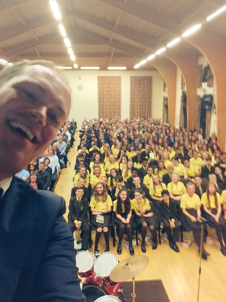 A post speech 'selfie'