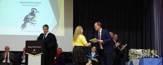 Guest of Honour at the Darrick Wood School Prize Giving, 2015