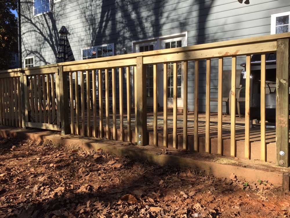 Wood Railing Crown Fence