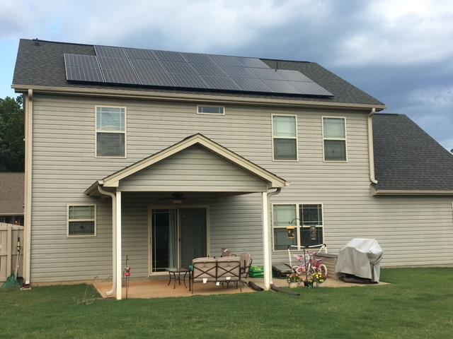 Greenville, SC solar install