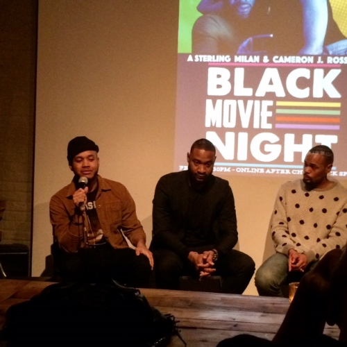 Cameron Ross and Sterling Milan speaking to Michael Arceneaux of Complex/Ebony