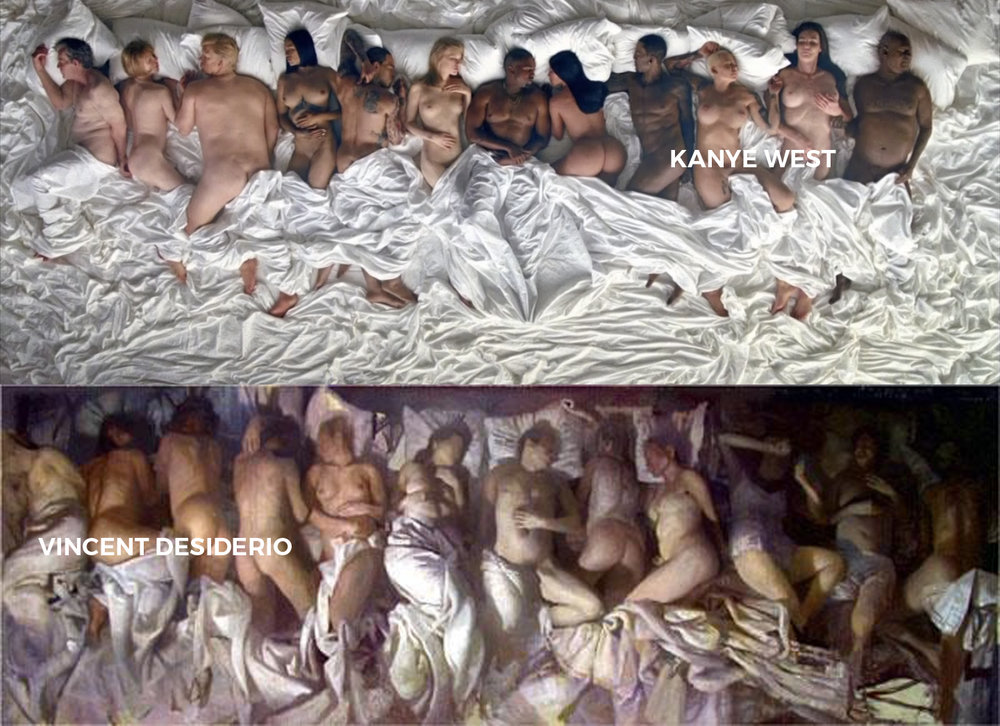 kanye west/  youtube  +  vincent desiderio
