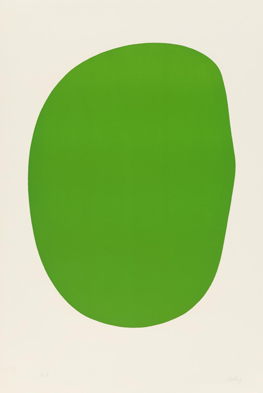 Green  |  Ellsworth Kelly 1964-1965 Lithograph courtesy of Artsy