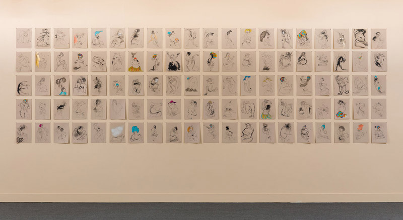 "Kenyatta A.C. Hinkle, ""The Evanesced,"" installation shot via Huffington Post"
