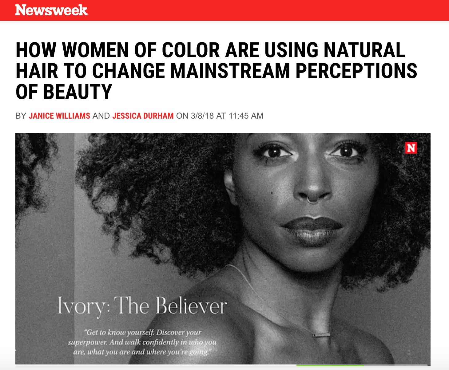 Newsweek How Women Of Color Are Using Natural Hair To Change