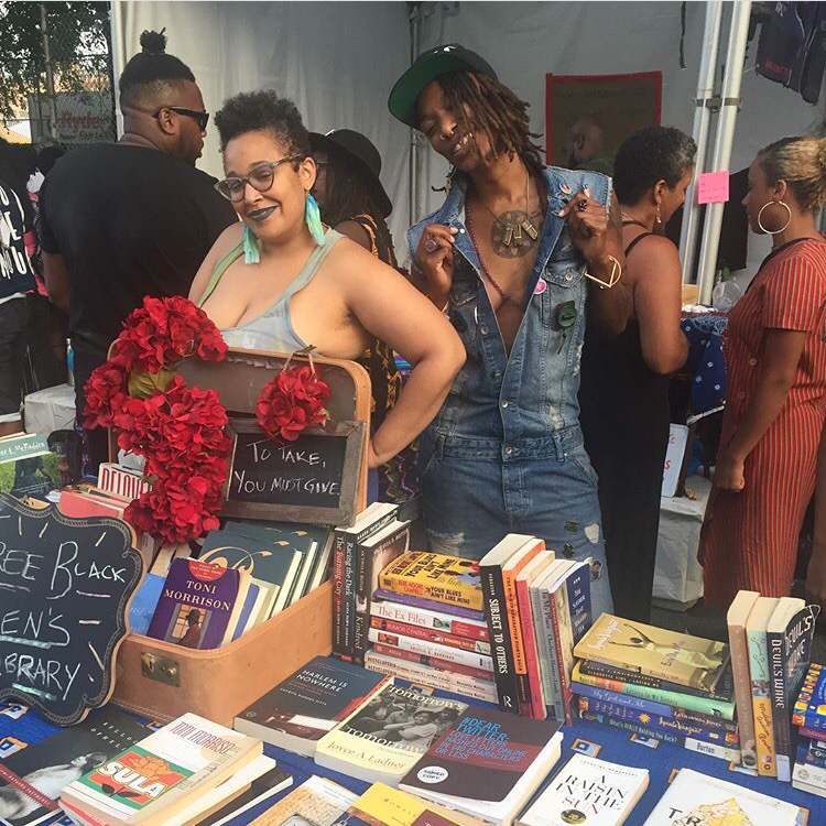 Free Black Women's Library at Afropunk, 2017.