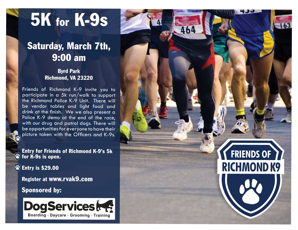 "159 runners joined us for our first annual ""5K for K'9's"". Thanks to our participants, sponsors, volunteers and Board Members. Together we raised over $7,400 for our unit.  https://youtu.be/cEDbxFpe4Ws"