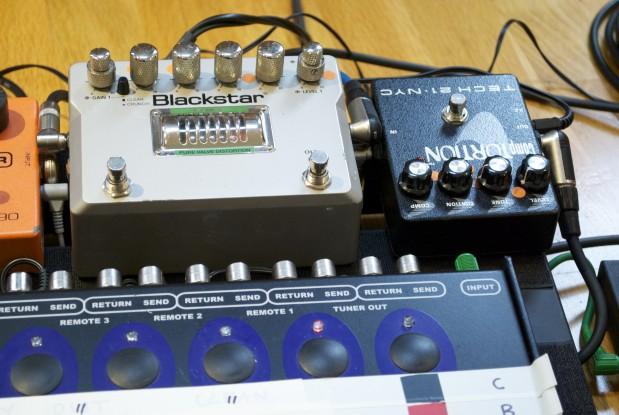 Joff Winsk guitar rig - Blackstar HT Dual, Tech 21 Comptortion, photograph by Joff Winks ©2016