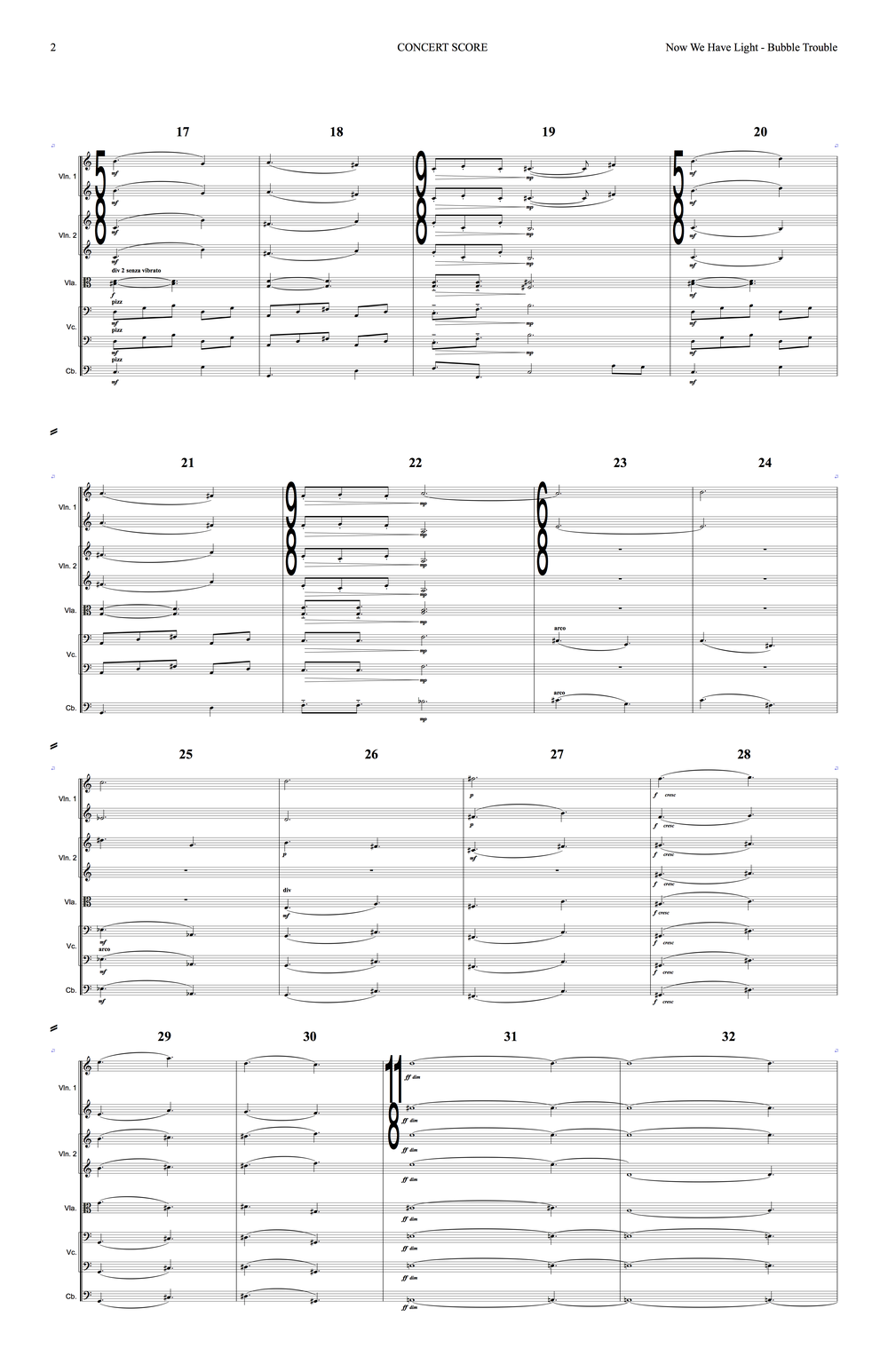 Sanguine Hum - 'Bubble Trouble' - string arrangement page 2