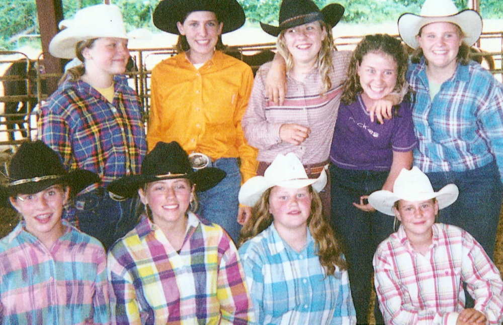 Tough cowgirls and great friends at the GJRA finals in June 2002