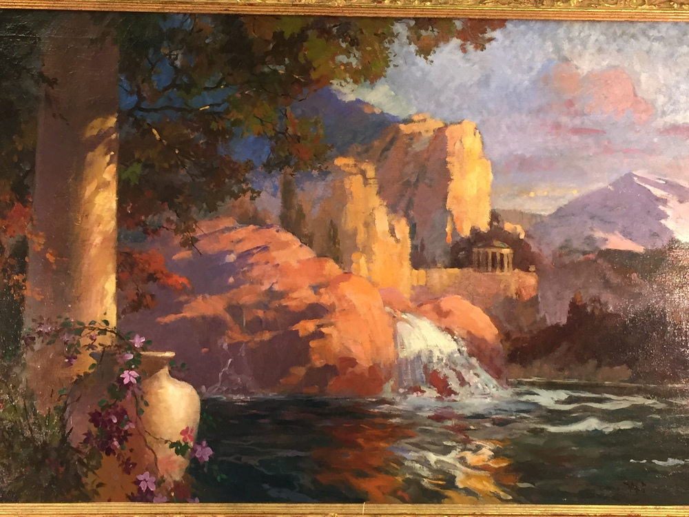 Unknown - Temple and Waterfall
