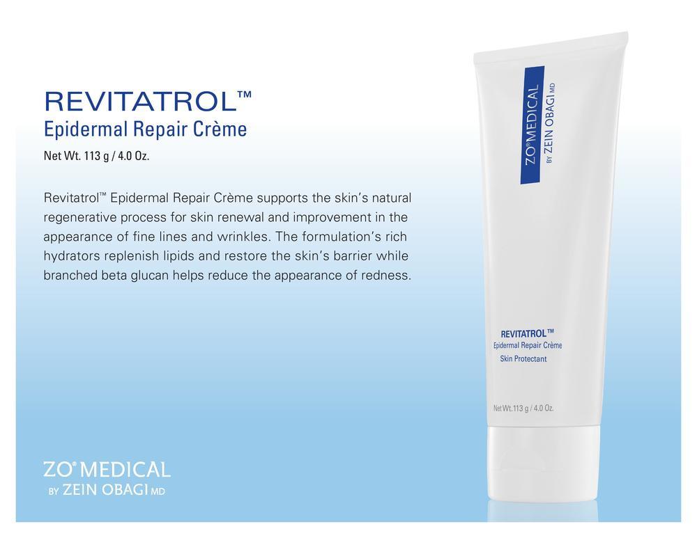 ZO® Medical Revitatrol™ (formerly ZO® Medical Regenacell)    Product Details   Revitatrol™ |Epidermal Repair Crème  113 g / 4.0 FL. Oz. |$48.50