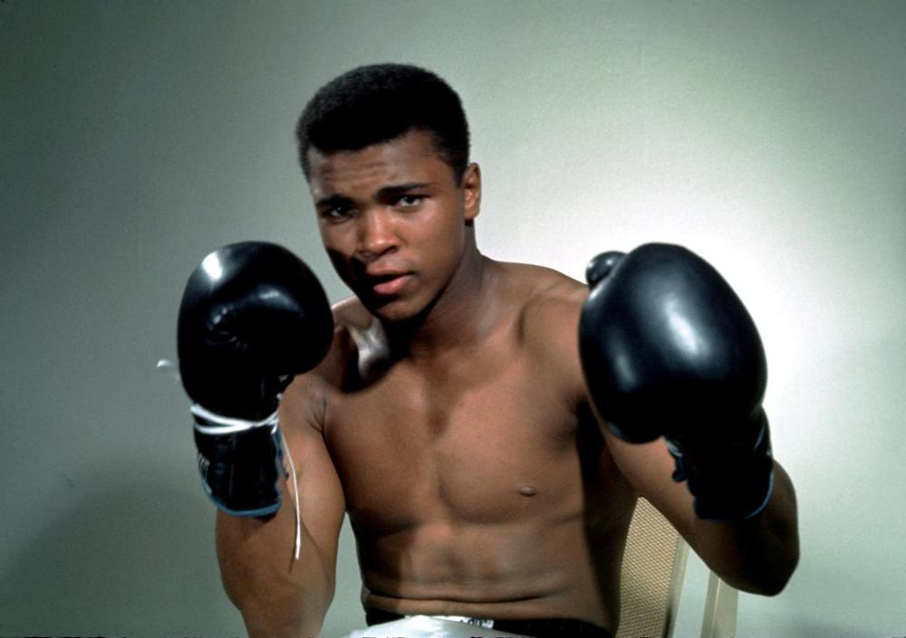 Muhammad Ali poses with gloves in this undated portrait. (Action Images/Sporting Pictures)