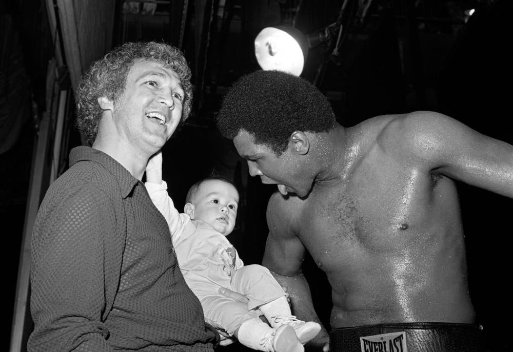 Muhammad Ali joking with a baby during a work out for his fight against Ron Lyle at the Tropicana in Las Vegas, Nev., on May 12 1975. Born Cassius Clay, boxing legend Muhammad Ali, dubbed as 'The Greatest,' died on 03 June 2016 in Phoenix, Ariz., at the age of 74. (Las Vegas News Bureau via EPA)