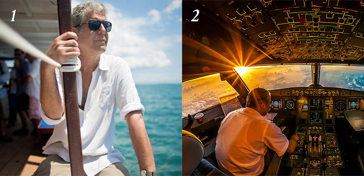 1. BOURDAIN'S TEN BEST DESTINATIONS: After 14 seasons of globetrotting, here are the chef's most popular stops. /   First We Feast    2. IN FLIGHT: En route from London to Tokyo, a pilot's-eye view of life in the sky. If you're an aviation geek, don't miss this longread. /   NYT