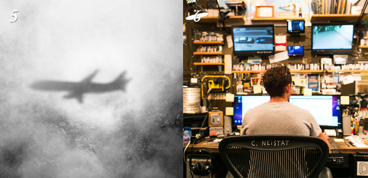 5. HACKER PILOTS AIRLINE FROM ENTERTAINMENT SYSTEM: We're not even mad. In fact, we're impressed. /   Wired    6. CASEY NEISTAT'S WILDLY FUNCTIONAL STUDIO: A little OCD, a little inspired, and a whole lot awesome. /   YouTube