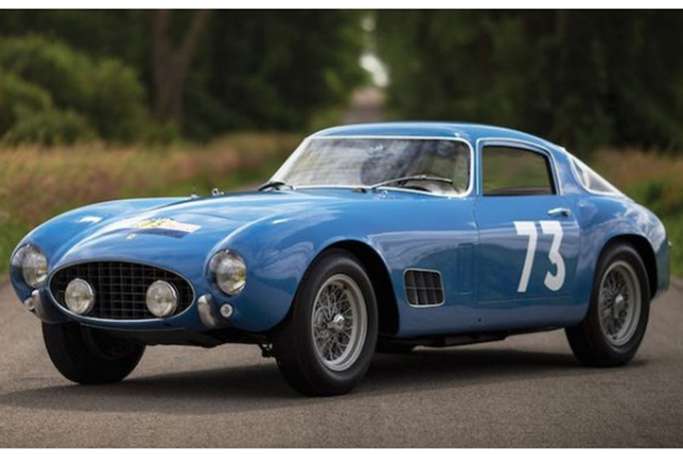 No. 10: 1956 Ferrari 250 GT LWB Berlinetta Tour de France  Sold for: $13.2 million in 2015  No. 10 on the list is a Ferrari 250 GT Tour de France: the curvaceous hardtop progenitor of Ferrari's most memorable cars of the last century. Like so many of the highly collectible Ferrari's on this list, the TDF was entered as a race car multiple times, including the eponymous Tour de France and the Rome Grand Prix. Just because the TDF's price was lower then the others here, that doesn't mean it isn't worth a buck. It's the 50's model that sets the tone for the more desirable 60's models.