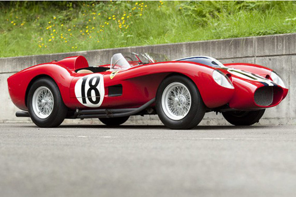 "No. 7: 1957 Ferrari 250 Testa Rossa Sold for: $16.4 million in 2011   Diversity is one of the only characteristics separating the most exclusive cars, and this Ferrari Testa Rossa is rolling proof. When it sold for over $16 million in 2011, it set a new auction record—not just in the U.S., but the world over. Today, its ""low"" price tag likely reflects the sentiment of a nation coming out of recession—hey, even a billionaire has to eat—and the '57 Testa Rossa could become even more valuable while off the block.  Courtesy of Gooding and Co."