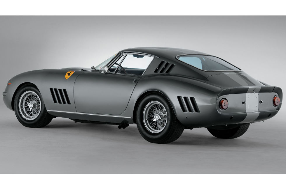 No.3: 1964 Ferrari 275 GTB/C Speciale Sold for: $26.4 million in 2014   What makes this 275 GTB different from some other fine Ferraris to command top dollar in Monterey? Like fine artwork, it's been cared for and preserved, and it belongs to a very prestigious and rare lineage. Oh, and because it took third at Le Mans in 1965. Try saying that about most modern garage-queen collector cars.