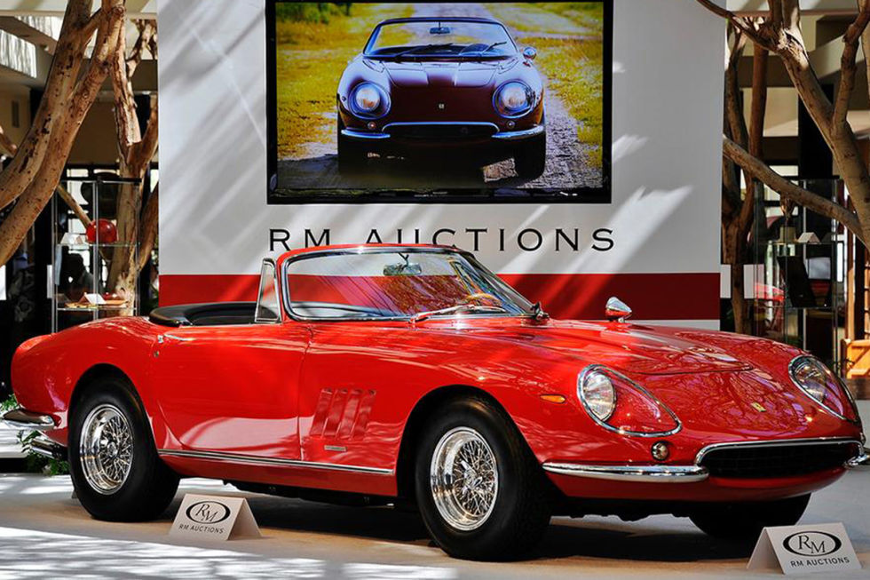 "No. 2: 1967 Ferrari 275 GTB/4*S NART Spider Sold for: $27.5 million in 2013   Until the sale of the 250 GTO Berlinetta, this '67 275 GTB soft-top held the record for most expensive sale of a non-race car in the United States. Anyone who puts down eight figures for an automobile should be able to dispense related trivia, like an explanation for the 275 GTB's seemingly unintelligible suffix (which stands for ""North American Racing Team"")."