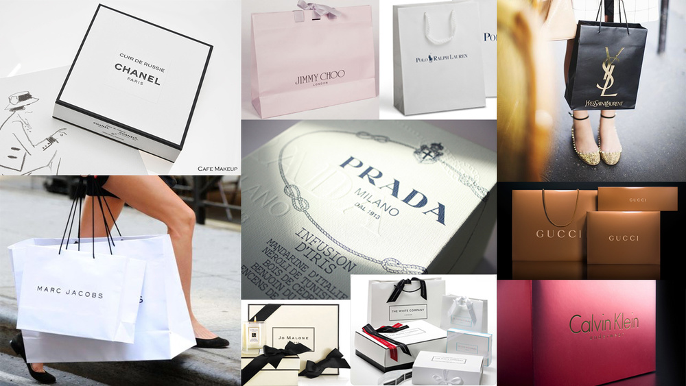 Mood board of Fashion Brand research.
