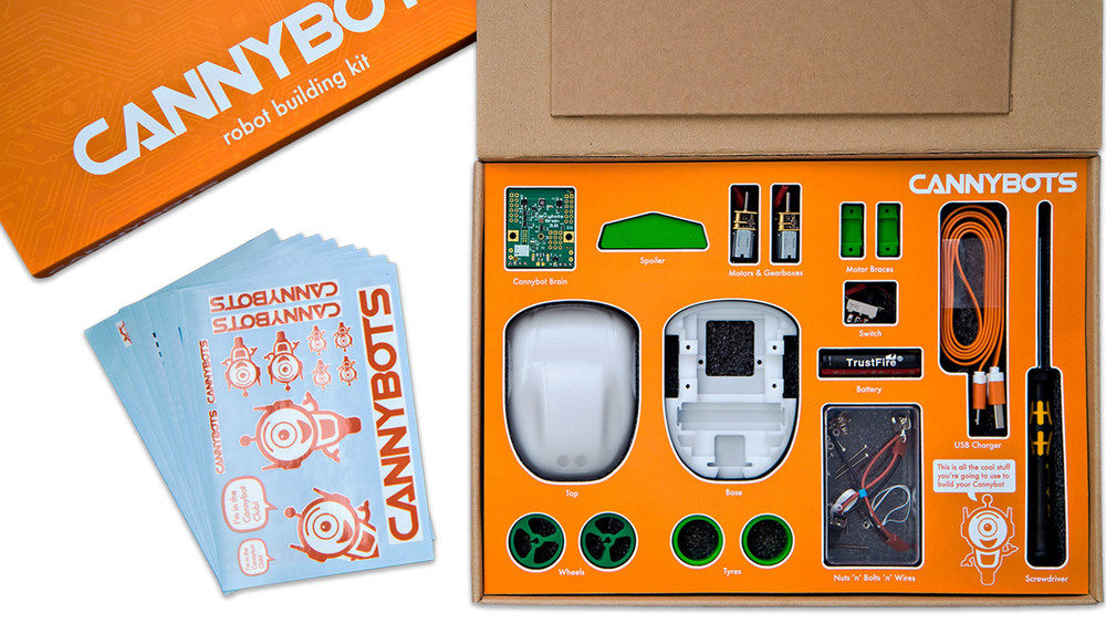 CannyBots Packaging Contents
