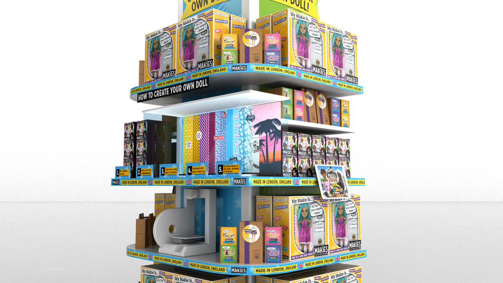 3D visual for Makies 2014 Selfridges Store.