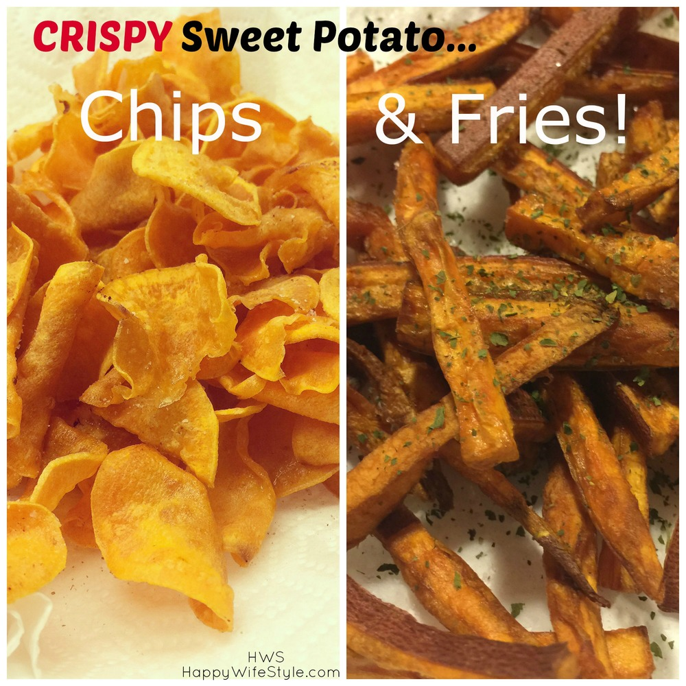 crispy sweet potato chips & fries